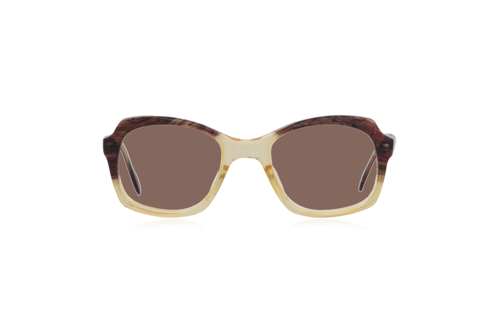 Peep Eyewear, Vintage Glasses, 1950s, Brown and Yellow, Brown.png