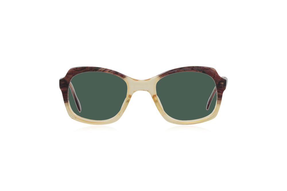 Peep Eyewear, Vintage Glasses, 1950s, Brown and Yellow, Green.png