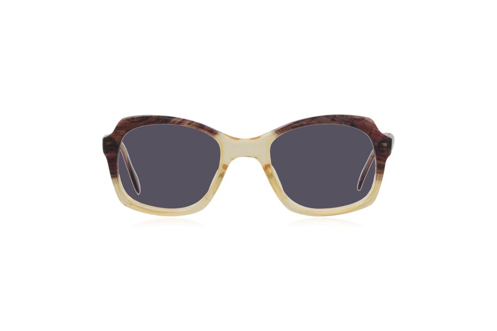 Peep Eyewear, Vintage Glasses, 1950s, Brown and Yellow, Grey.png