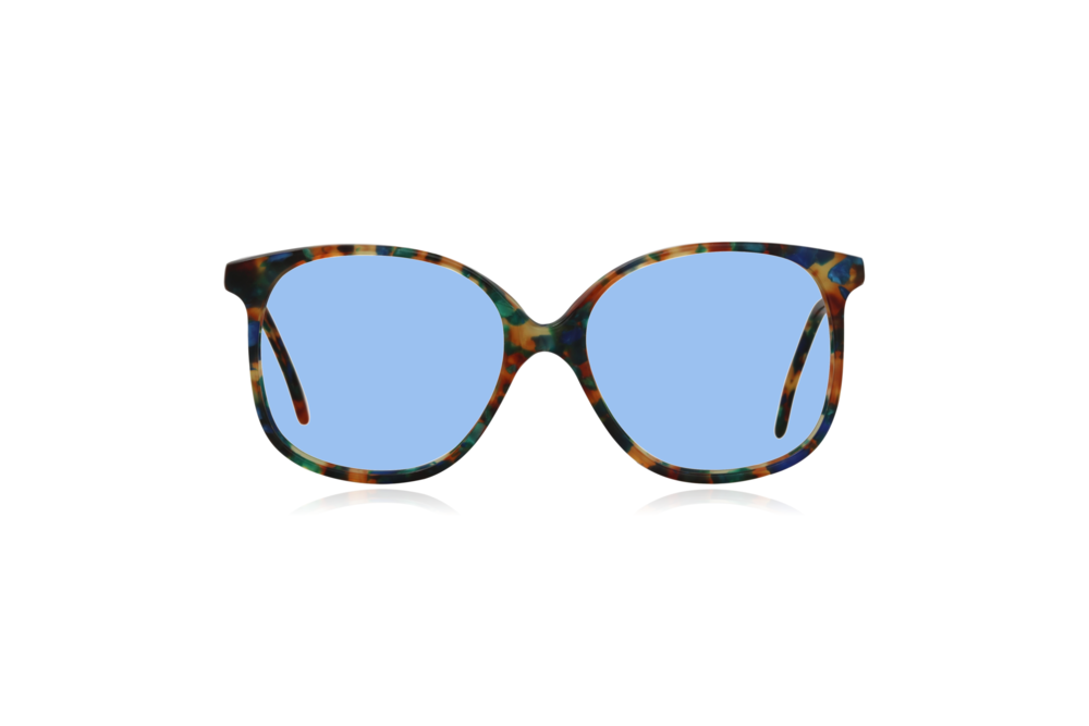 Peep Eyewear, Vintage Glasses, Forest, Acetate, Multi-coloured, Front, Blue.png