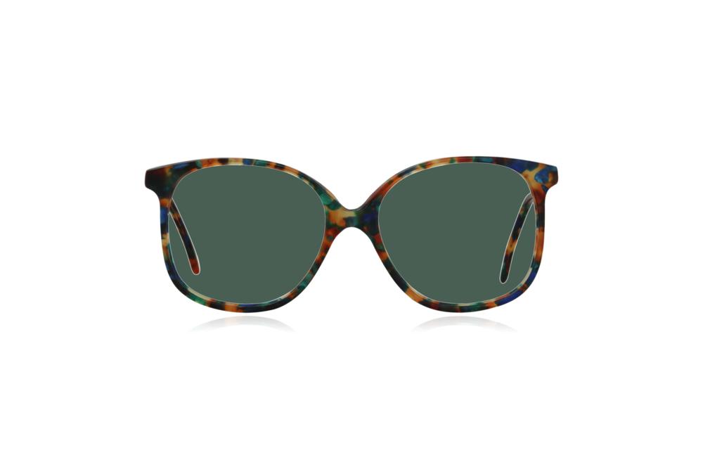 Peep Eyewear, Vintage Glasses, Forest, Acetate, Multi-coloured, Front, Green.png