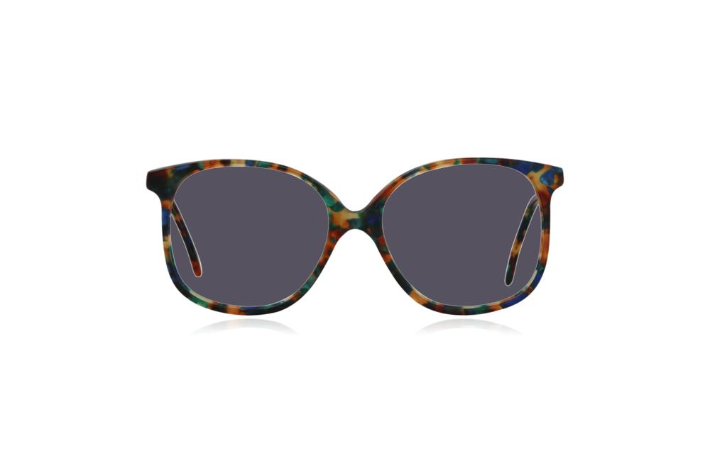 Peep Eyewear, Vintage Glasses, Forest, Acetate, Multi-coloured, Front, Grey.png