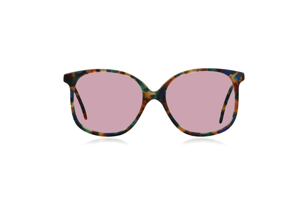 Peep Eyewear, Vintage Glasses, Forest, Acetate, Multi-coloured, Front, Pink.png