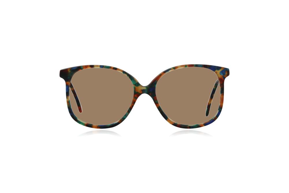 Peep Eyewear, Vintage Glasses, Forest, Acetate, Multi-coloured, Front, Sahara.png