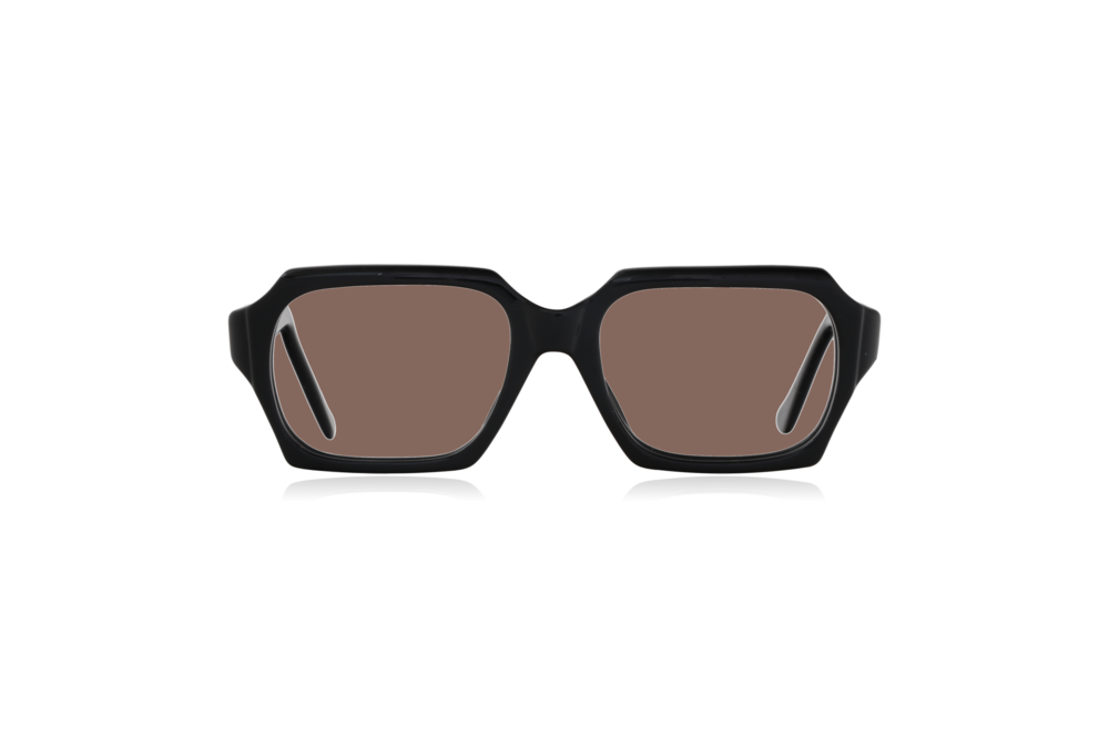 Peep Eyewear, Vintage Glasses, 1960s, Geek, Jet Black, Front, Brown.png