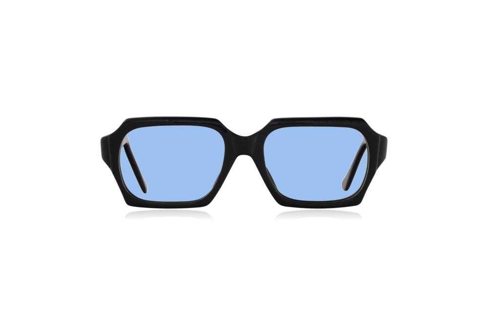 Peep Eyewear, Vintage Glasses, 1960s, Geek, Jet Black, Front, Blue.png