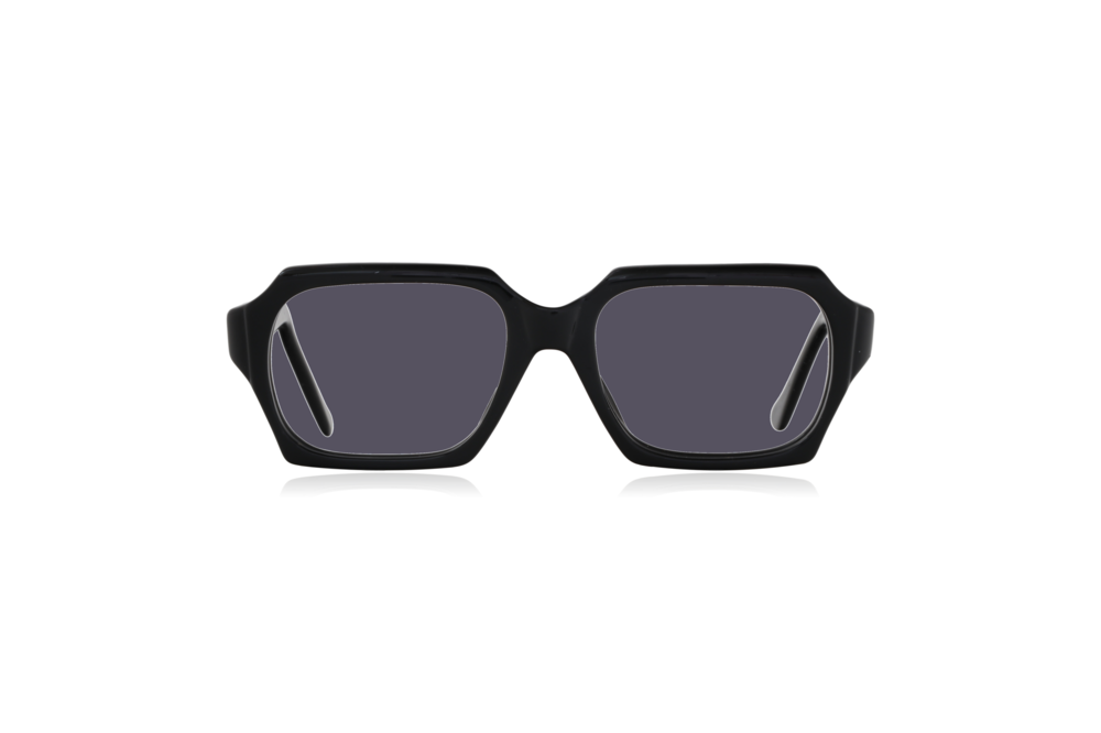 Peep Eyewear, Vintage Glasses, 1960s, Geek, Jet Black, Front, Grey.png