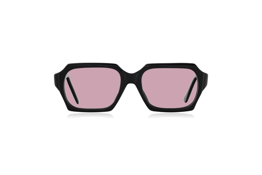 Peep Eyewear, Vintage Glasses, 1960s, Geek, Jet Black, Front, Pink.png