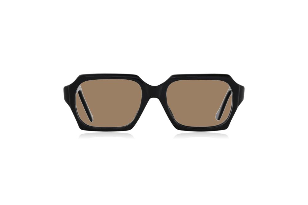 Peep Eyewear, Vintage Glasses, 1960s, Geek, Jet Black, Front, Sahara.png