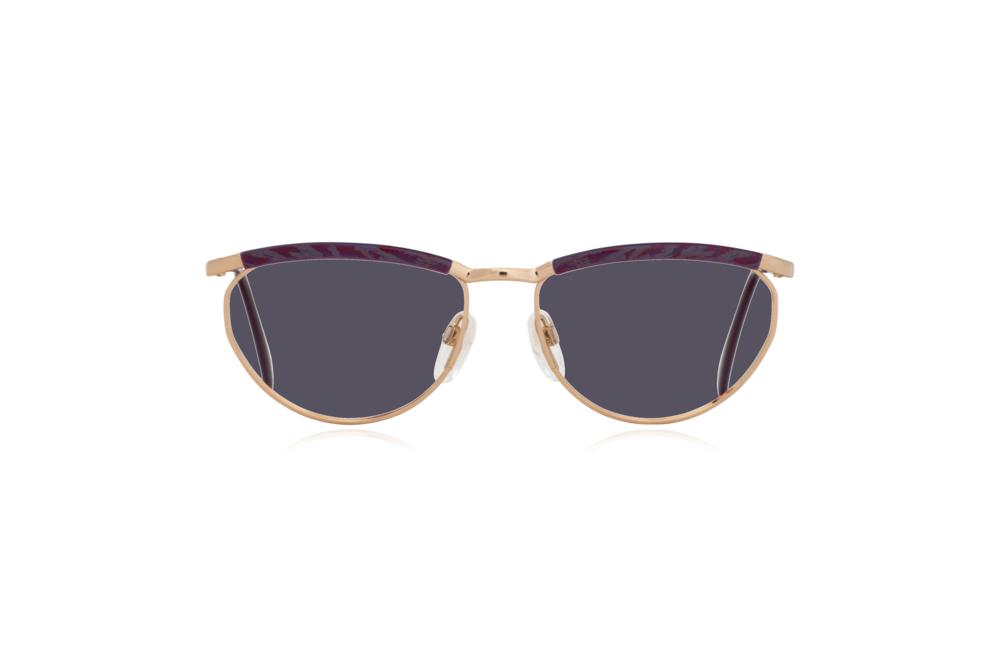 Peep Eyewear, Vintage Glasses, Silhouette 6234, 6052, Gold, Purple Frames, Front, Grey.png