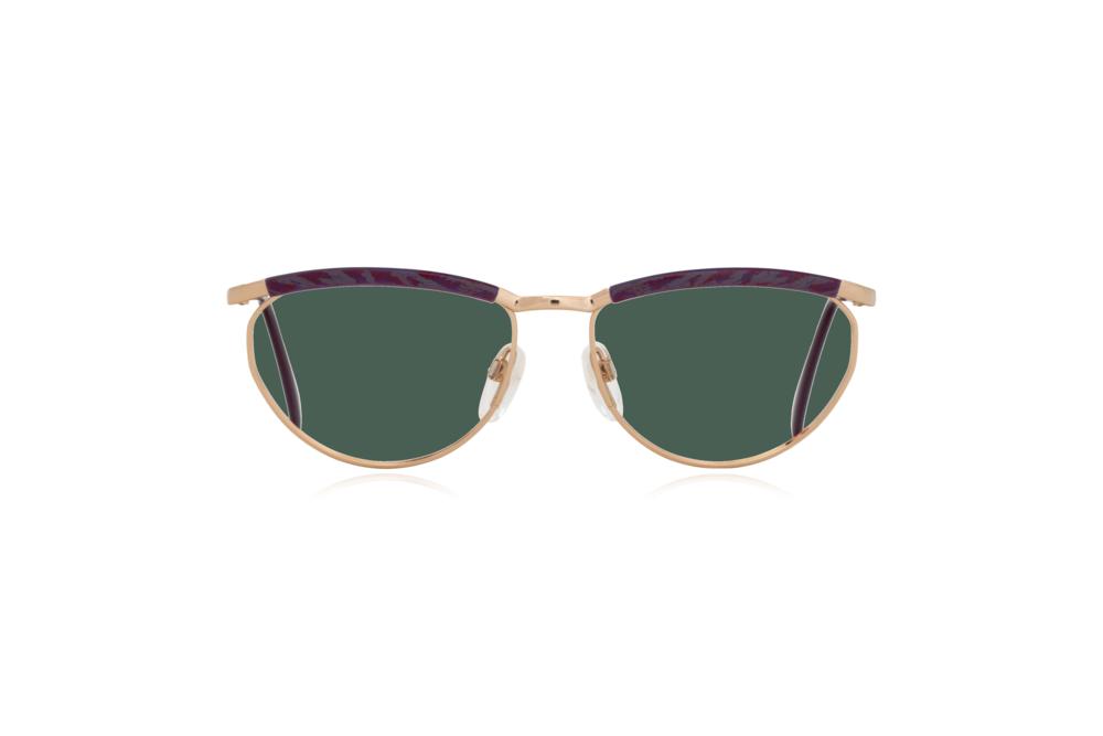 Peep Eyewear, Vintage Glasses, Silhouette 6234, 6052, Gold, Purple Frames, Front, Green.png