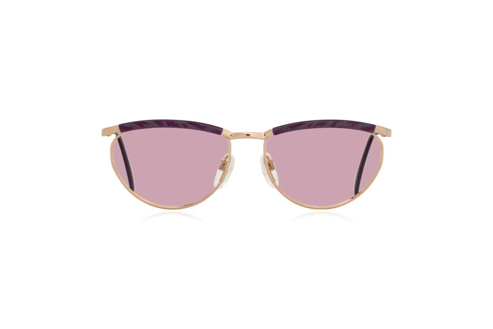 Peep Eyewear, Vintage Glasses, Silhouette 6234, 6052, Gold, Purple Frames, Front, Pink.png