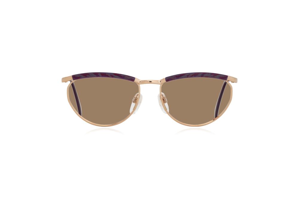 Peep Eyewear, Vintage Glasses, Silhouette 6234, 6052, Gold, Purple Frames, Front, Sahara.png
