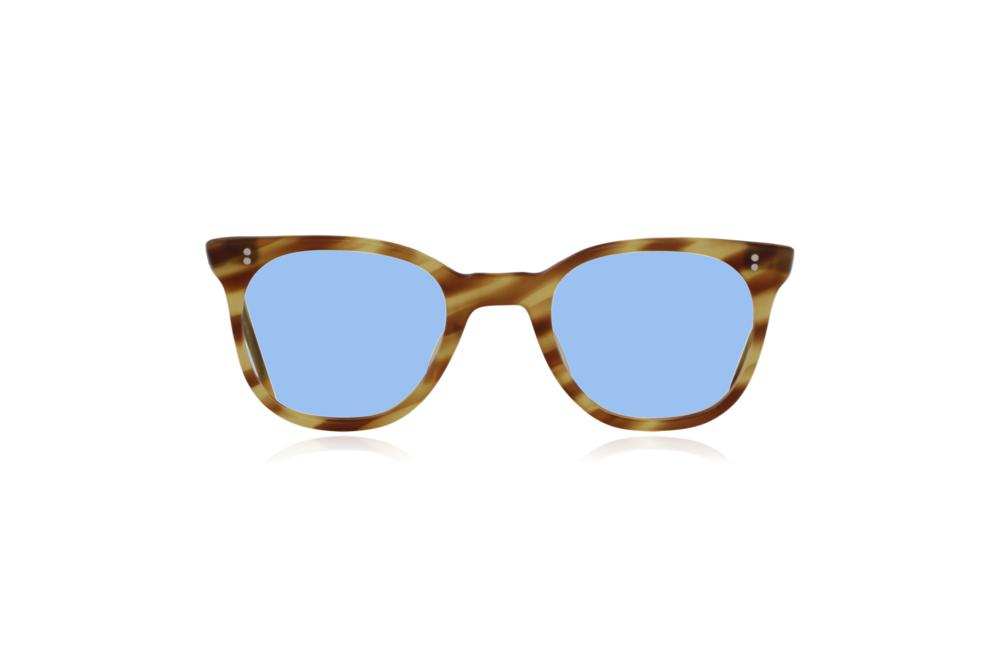 Peep Eyewear, Vintage Glasses, 1950s NHS Tort, Mustard, Front, Blue.png