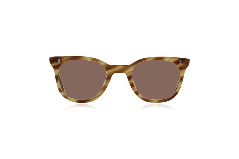 Peep Eyewear, Vintage Glasses, 1950s NHS Tort, Mustard, Front, Brown.png