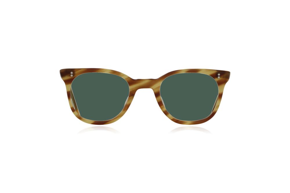 Peep Eyewear, Vintage Glasses, 1950s NHS Tort, Mustard, Front, Green.png