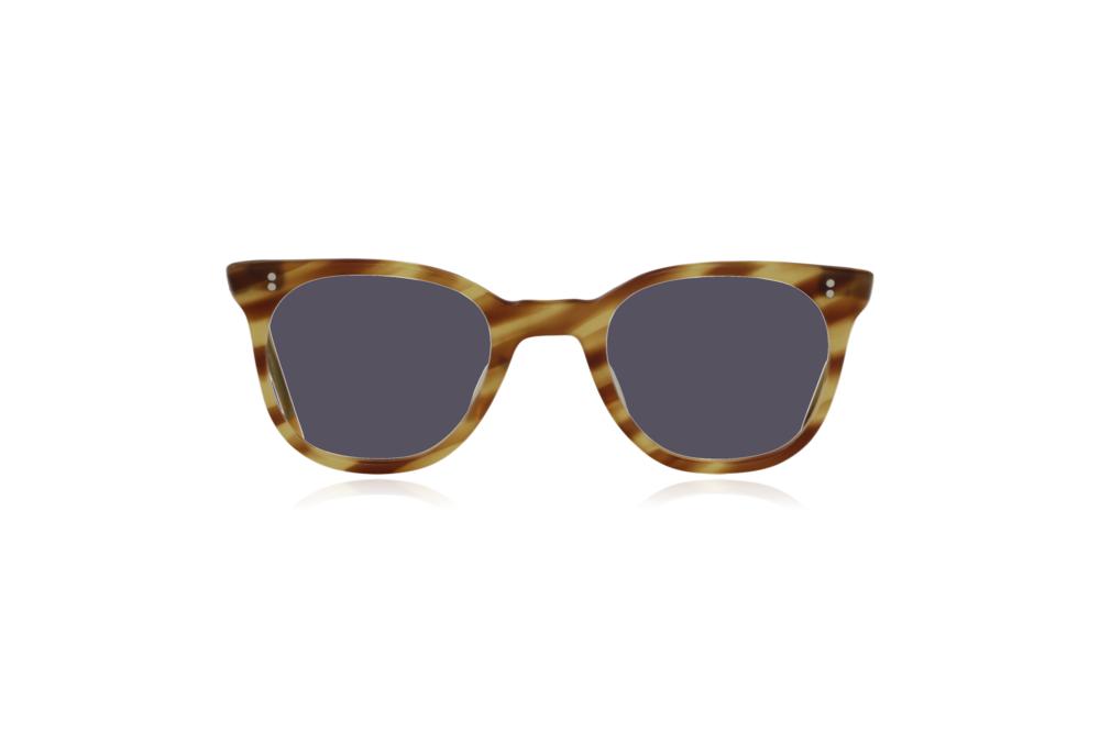 Peep Eyewear, Vintage Glasses, 1950s NHS Tort, Mustard, Front, Grey.png