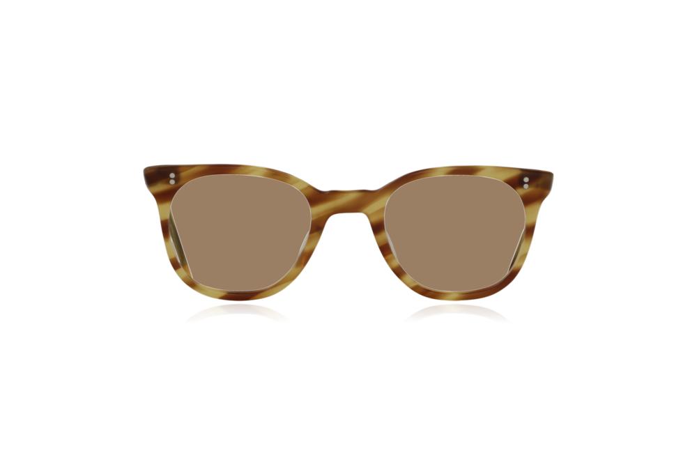 Peep Eyewear, Vintage Glasses, 1950s NHS Tort, Mustard, Front, Sahara.png