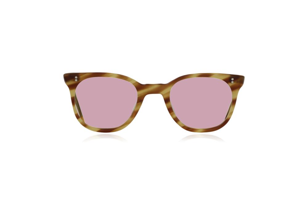 Peep Eyewear, Vintage Glasses, 1950s NHS Tort, Mustard, Front, Pink.png