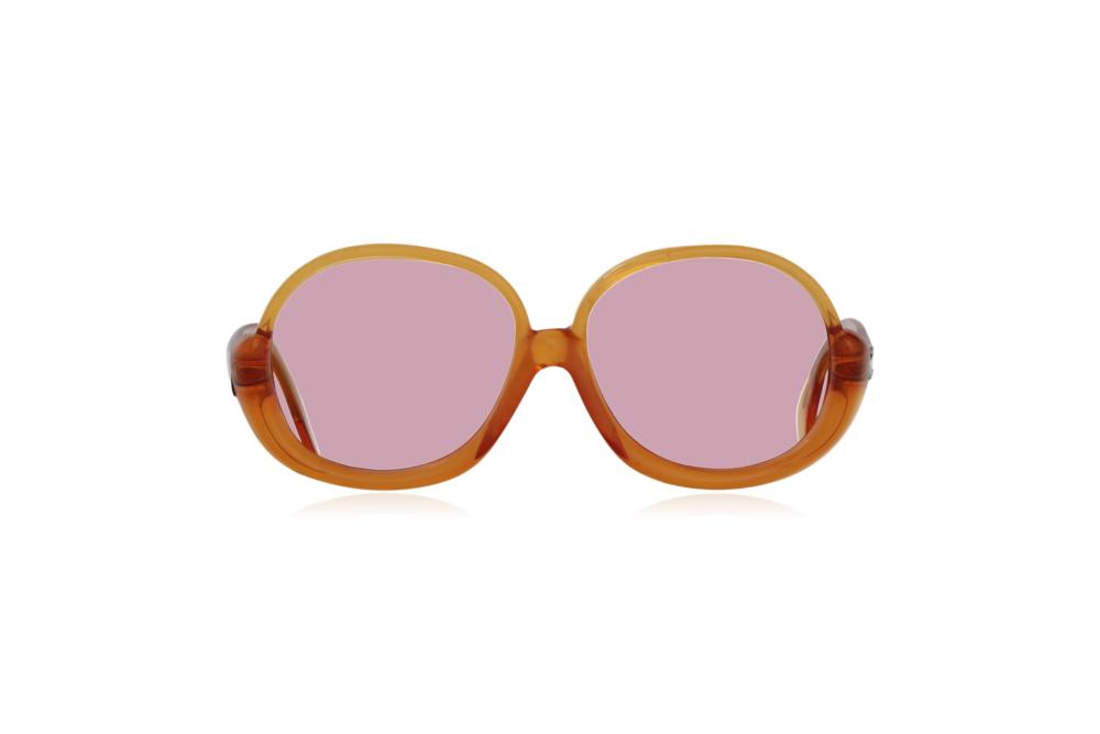 Peep Eyewear, Vintage Glasses, 1970s, Orange, Oversize, Front, Pink.png