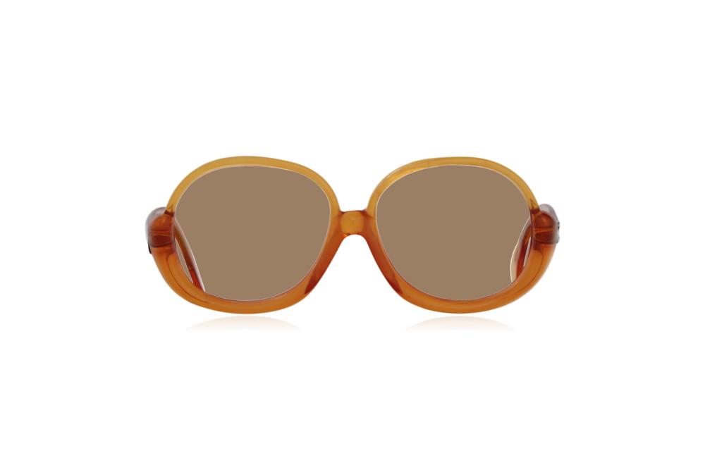 Peep Eyewear, Vintage Glasses, 1970s, Orange, Oversize, Front, Sahara.png