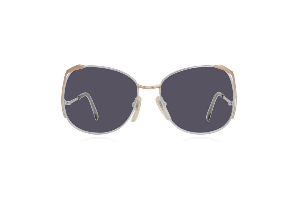 Peep Eyewear, Vintage Glasses, Skaga, Eva, Metal, Silver & Gold, Front, Grey.png