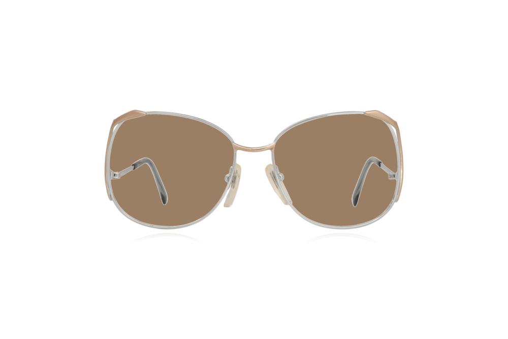 Peep Eyewear, Vintage Glasses, Skaga, Eva, Metal, Silver & Gold, Front, Sahara.png