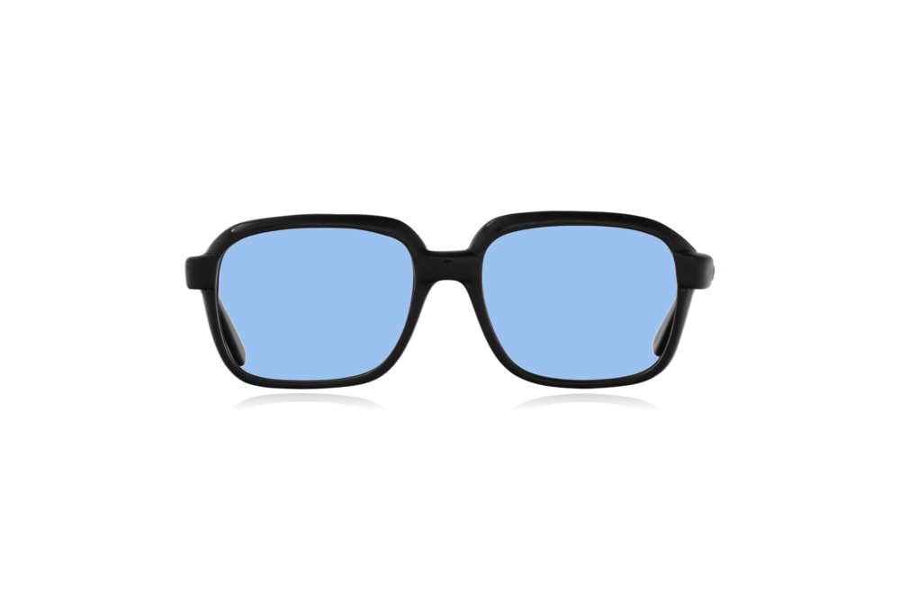Peep Eyewear, Vintage Glasses, CM, Ink Black, Plastic, Front, Blue.png