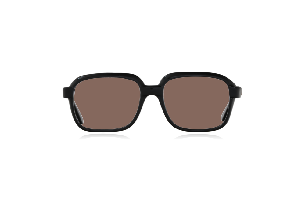Peep Eyewear, Vintage Glasses, CM, Ink Black, Plastic, Front, Brown.png