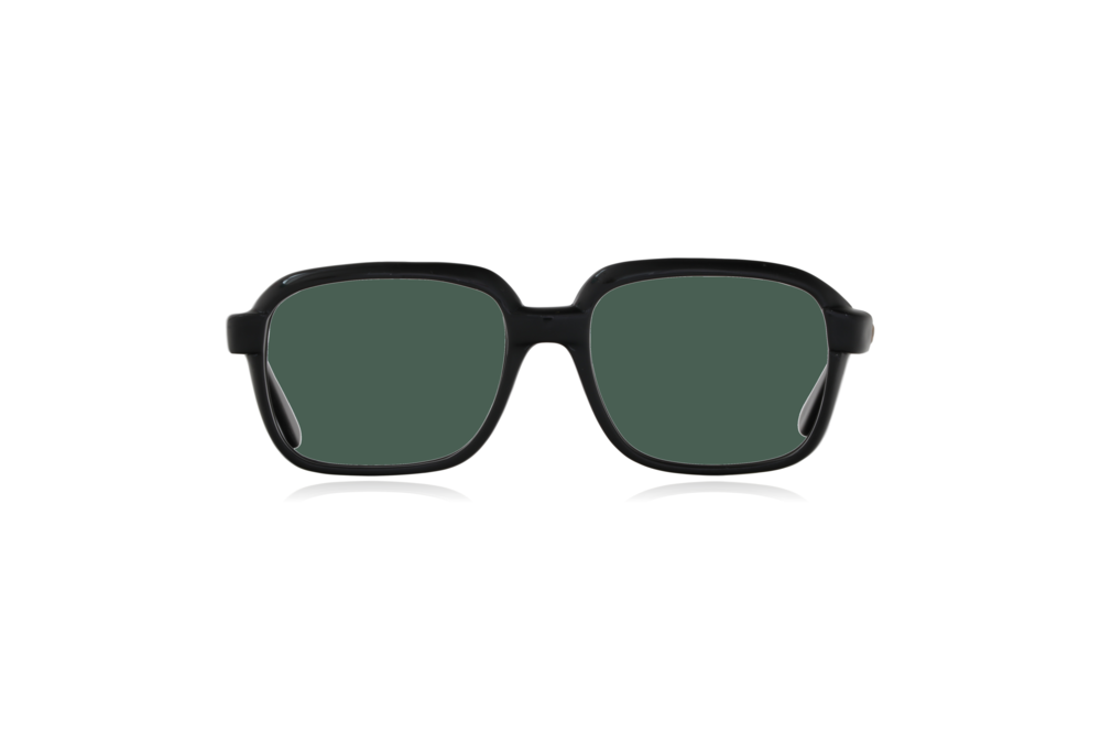 Peep Eyewear, Vintage Glasses, CM, Ink Black, Plastic, Front, Green.png