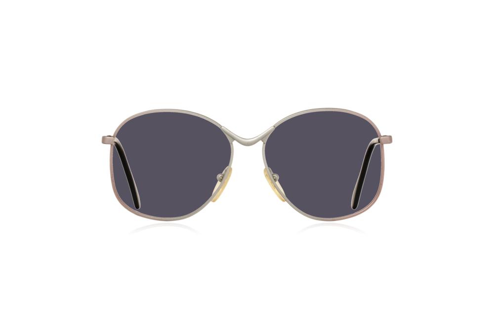 Peep Eyewear, Vintage Glasses, Metal, Silver, Birdie, Front, Grey.png