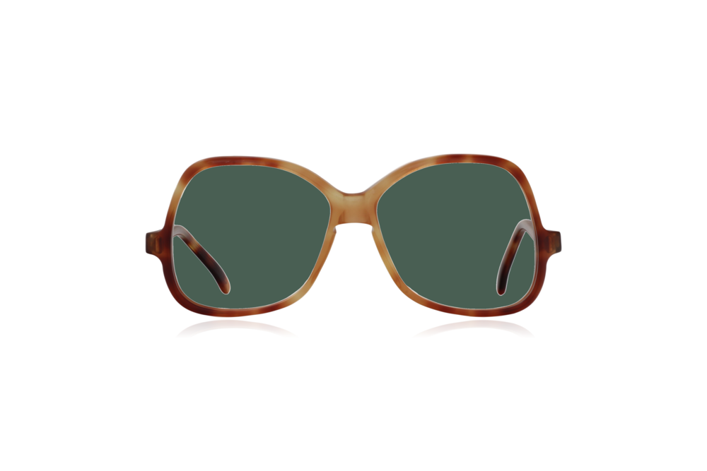Peep Eyewear, Vintage Glasses, Honey by Bausch & Lomb, Oversize, Front, Green.png