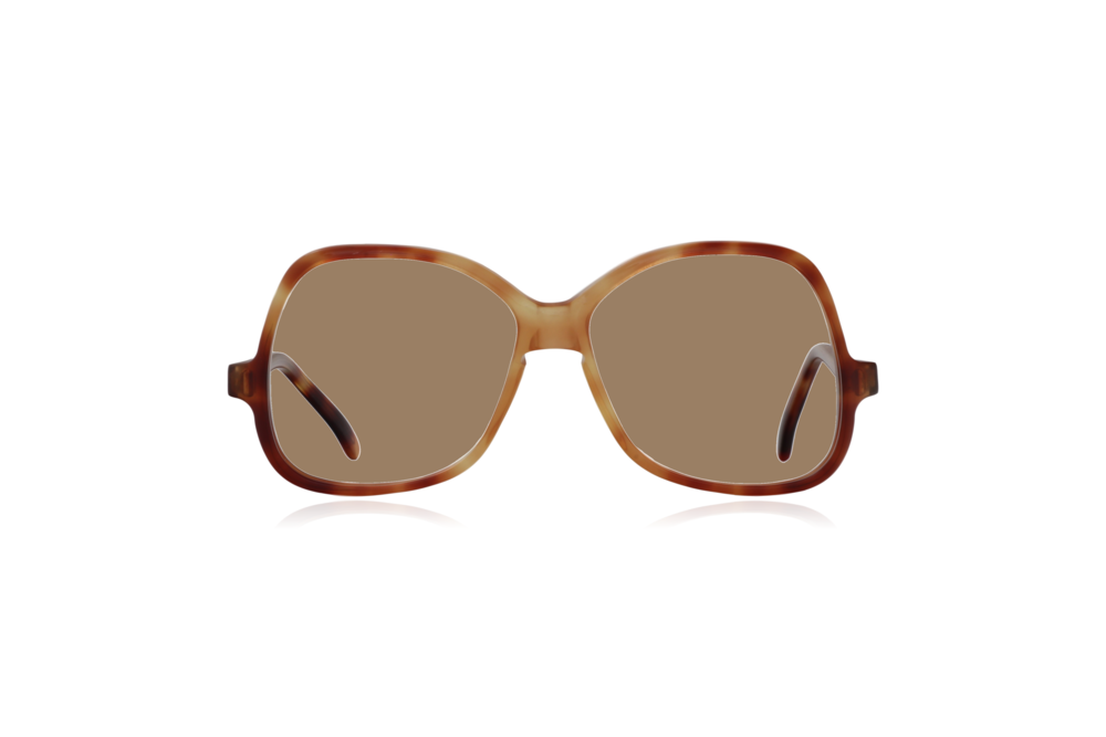 Peep Eyewear, Vintage Glasses, Honey by Bausch & Lomb, Oversize, Front, Sahara.png