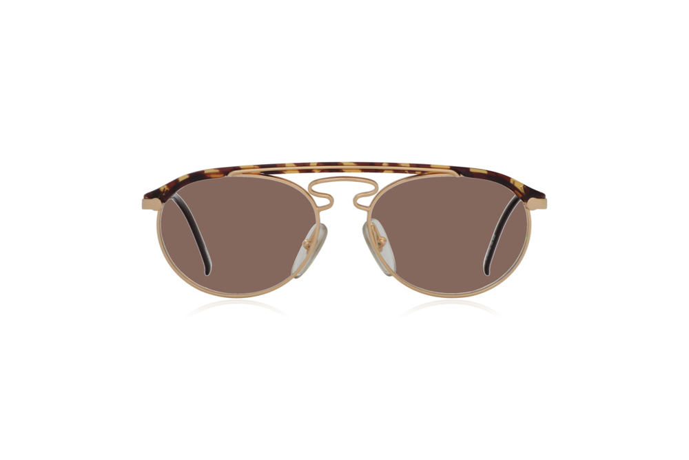 Peep Eyewear, Vintage Glasses, Hugo Boss by Carrera 5119, Gold Metal and Tort, Front, Brown.png