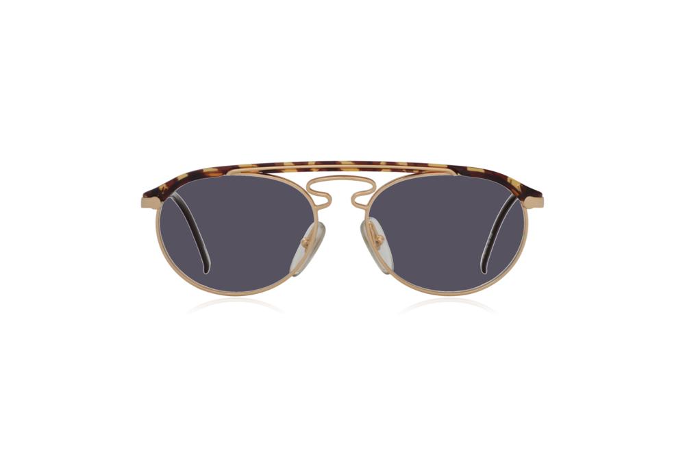 Peep Eyewear, Vintage Glasses, Hugo Boss by Carrera 5119, Gold Metal and Tort, Front, Grey.png