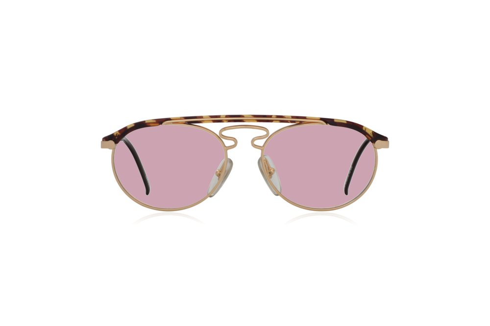 Peep Eyewear, Vintage Glasses, Hugo Boss by Carrera 5119, Gold Metal and Tort, Front, Pink.png