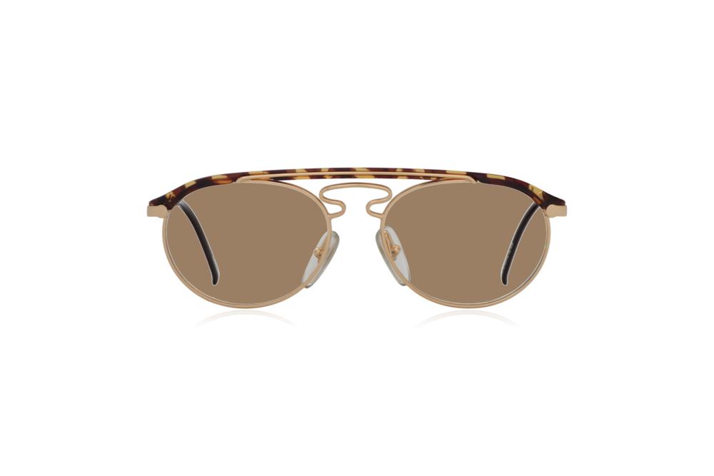 Peep Eyewear, Vintage Glasses, Hugo Boss by Carrera 5119, Gold Metal and Tort, Front, Sahara.png