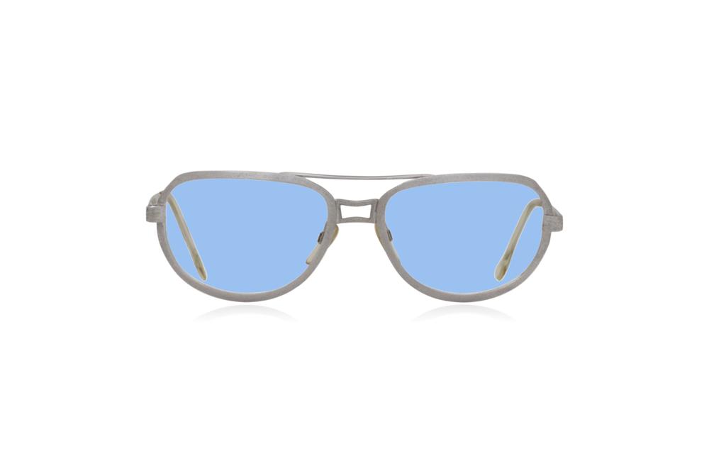 Peep Eyewear, Vintage Glasses, Metal, Silver, Ares, Front, Blue.png