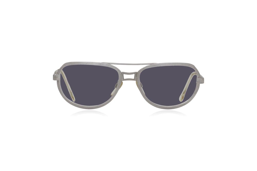 Peep Eyewear, Vintage Glasses, Metal, Silver, Ares, Front, Grey.png
