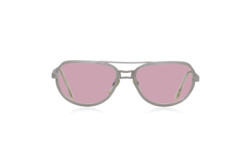 Peep Eyewear, Vintage Glasses, Metal, Silver, Ares, Front, Pink.png