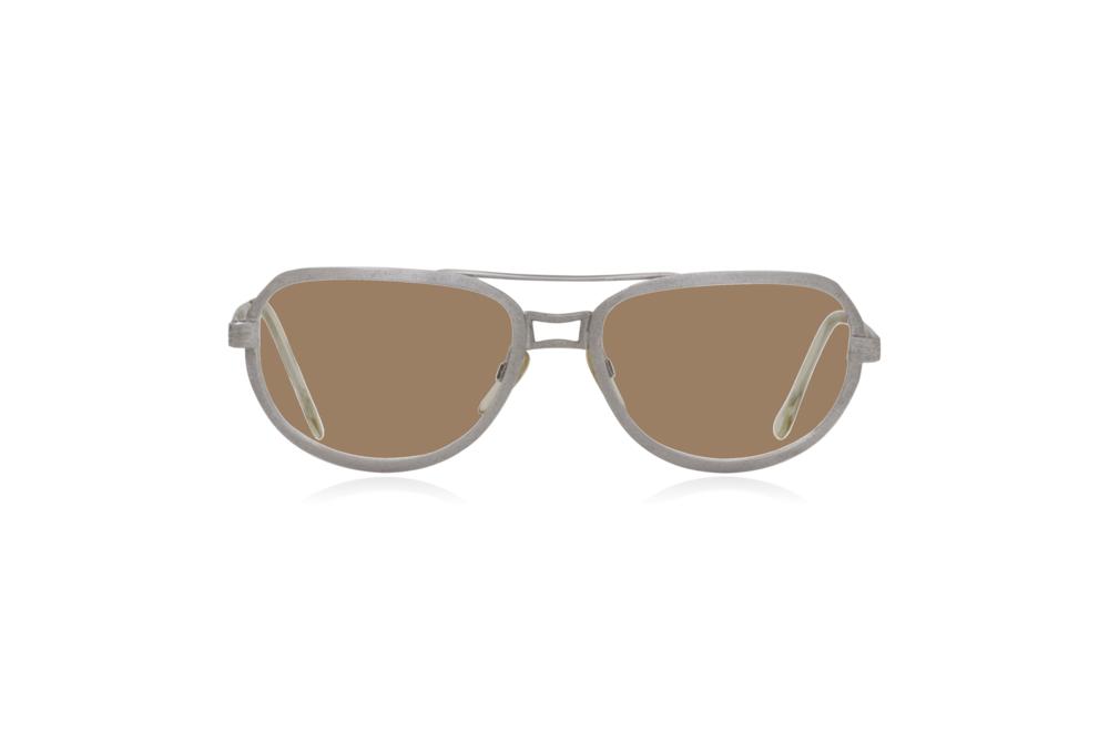 Peep Eyewear, Vintage Glasses, Metal, Silver, Ares, Front, Sahara.png