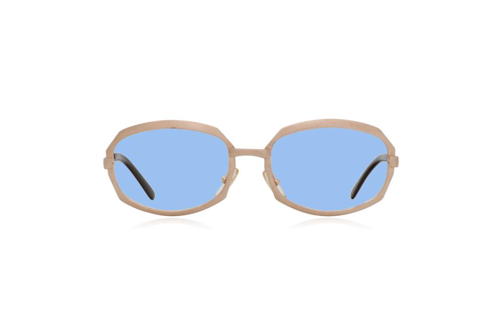 Peep Eyewear, Vintage Glasses, Gold Metal, Vicky, Cahours De Virgile, Paris, Front, Blue.png