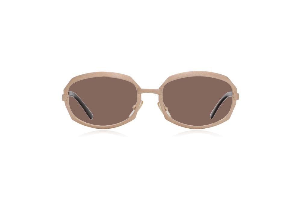 Peep Eyewear, Vintage Glasses, Gold Metal, Vicky, Cahours De Virgile, Paris, Front, Brown.png