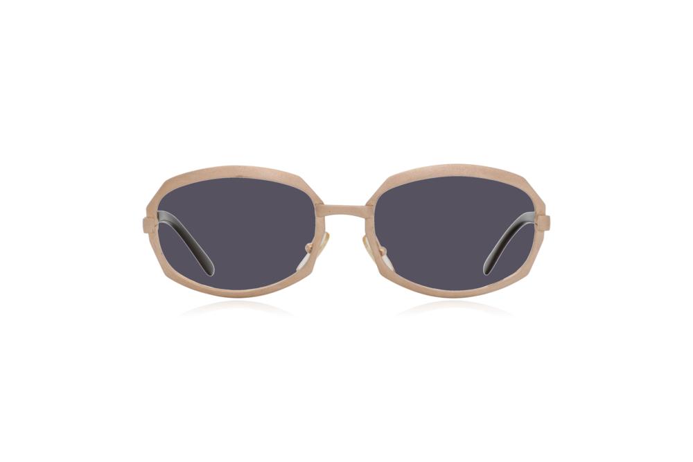 Peep Eyewear, Vintage Glasses, Gold Metal, Vicky, Cahours De Virgile, Paris, Front, Grey.png