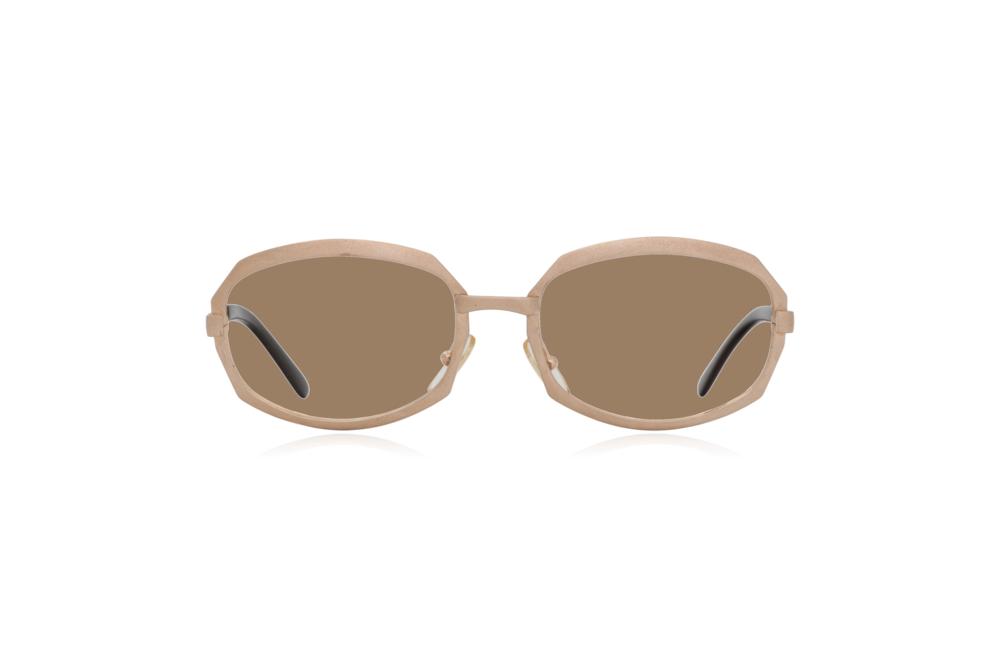 Peep Eyewear, Vintage Glasses, Gold Metal, Vicky, Cahours De Virgile, Paris, Front, Sahara.png
