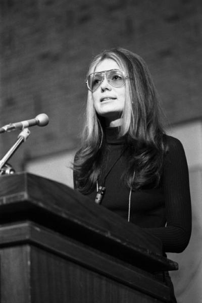 Glorious feminist Gloria Steinem in her 70s aviators