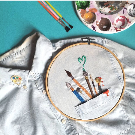 Bear Shark Embroidery