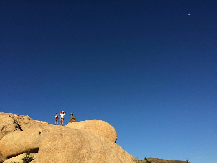 My niece and nephew conquering rock climbing 101.