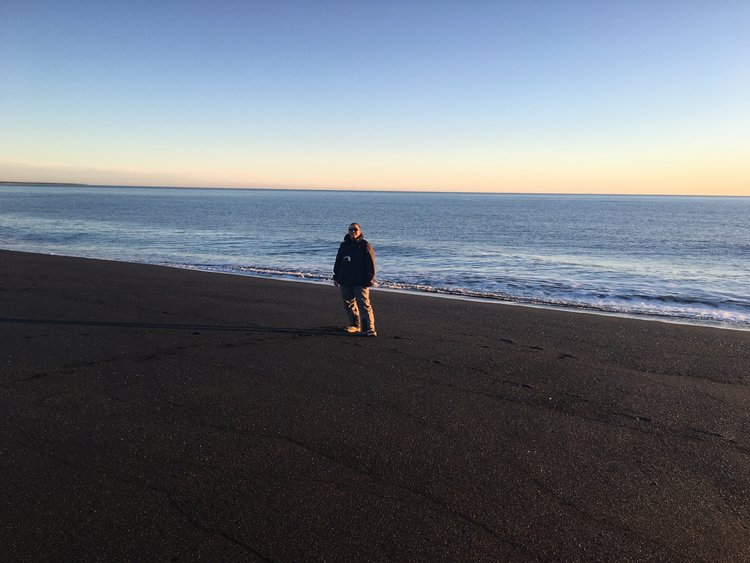 Black sand beach in Vik, Iceland.