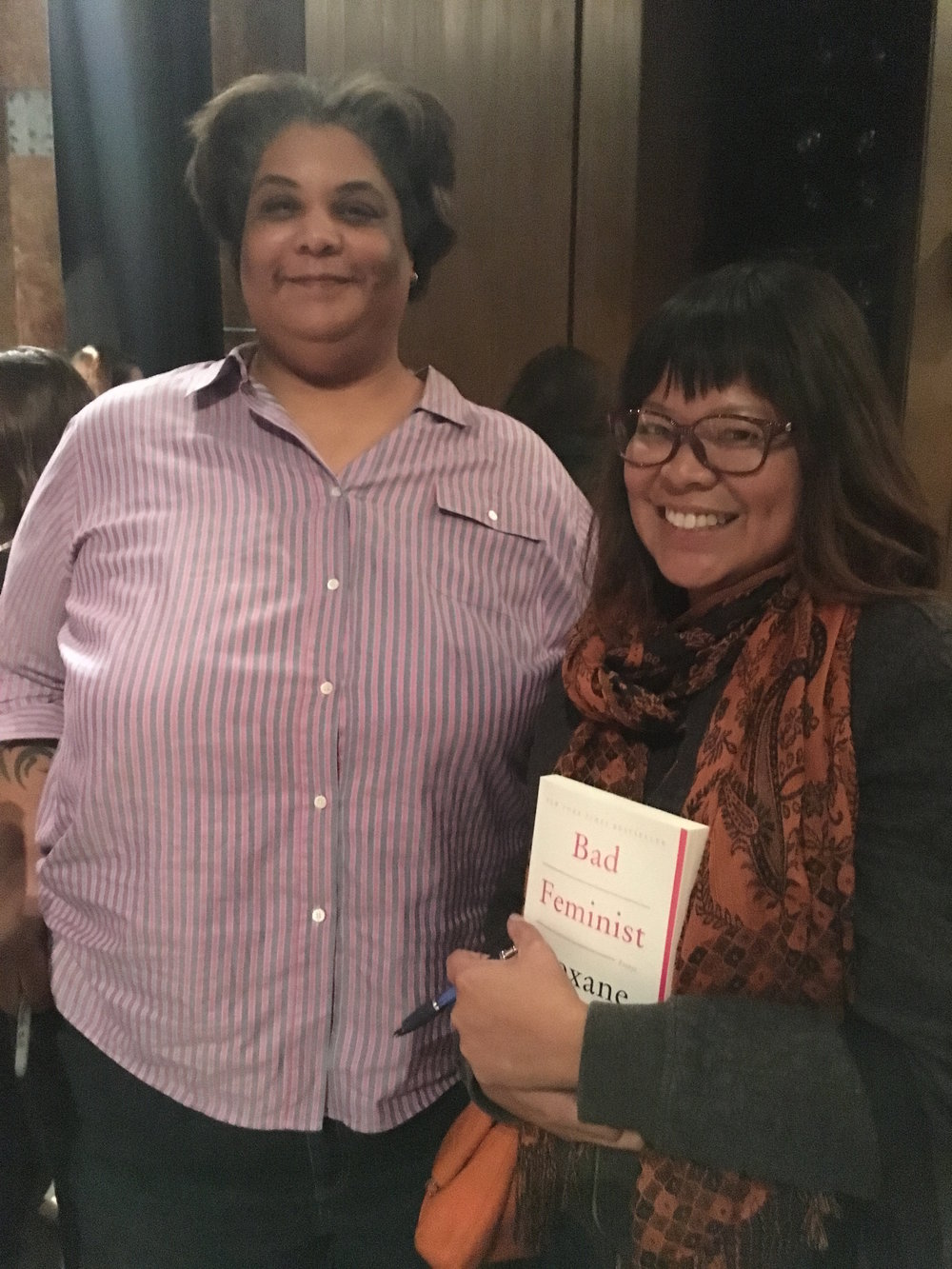 Meeting the fierce Ms. Gay at a speaking engagement Oct. 2016. I'm a hugger but she asked the audience to refrain from asking her for one so I gladly respected her wishes.